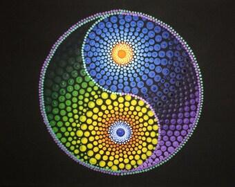 Yin and Yang Mandala Canvas
