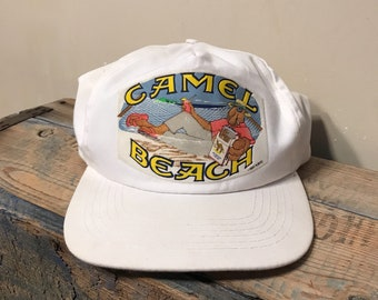 Camel Cigarettes hat // Vintage 90s snapback hat // summer 1991 beach hat // summer beach // joe cool joe camel // retro funny hat