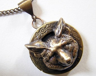 FOX LOCKET, Necklace Pendant