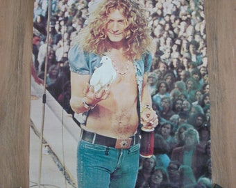 Original Vintage Robert Plant White Dove Led Zeppelin Poster 23 x 34.5 Inches