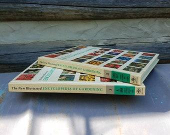 Vintage Gardening Books- Encyclopedia of Gardening/New Illustrated/Vol I II- Everett- Gift/plants/Gardener's Gift/ 1970s/Books-Greystone