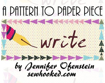 WRITE - a mini quilt pattern to paper piece