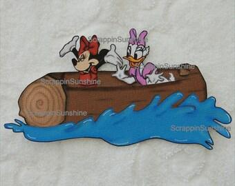 DISNEY Splash Mountain Minnie & Daisy Printed Scrapbook Page Paper Piece - SSFF