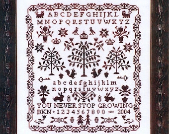 Never Stop Growing by Blue Ribbon Counted Cross Stitch Pattern/Chart