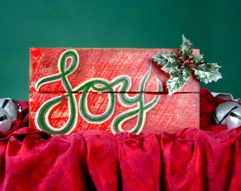 Joy Sign, Pallet Sign, Christmas Sign, Christmas Decoration, Holiday Decor, Wood Sign, Rustic Decor, Reclaimed Wood