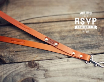 Custom Lanyard Arrow Leather, ID holder leather lanyard, key strap, Leather neck strap, ID holder badge,