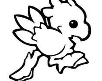 Running Chocobo Vinyl Sticker