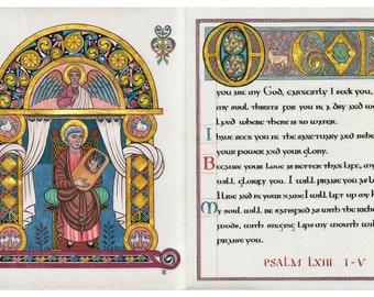King David and Psalm 63 Illumination