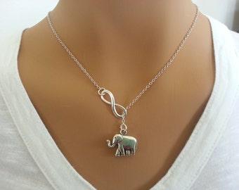 Larite Style Infinity and Elephant Necklace