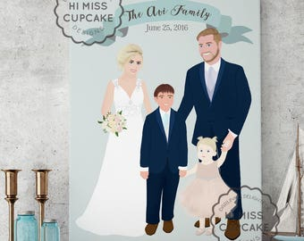 Unique Wedding Gift / Wedding Gift Ideas / Gift for her / Wedding illustration / Wedding portrait / Wedding gift / Couple portrait