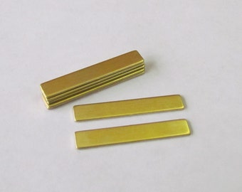 1/4 x 1 1/2 -  Brass bar blanks -22G - ring blanks- hand stamping blanks -metal blanks-jewelry supplies-stamping blanks - necklace pendants