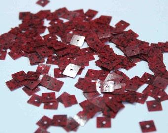 100 Red Black textured sequins/KBSS253