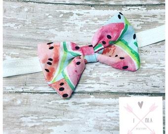 Watermelon headband-Watermelon hair accessories-Watermelon Bow-Hair Bow-Headband-Summer-baby-girl-toddler