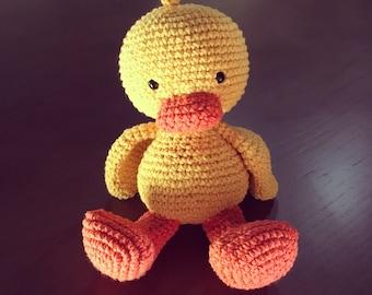 Amigurumi Duck Tutorial : Amigurumi crochet duck pattern chico the duck softie