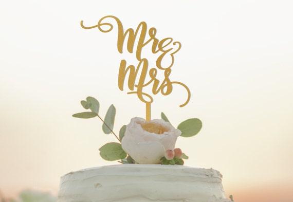 Mr and Mrs Cake Topper Wedding Cake Topper Mr N Mrs Cake