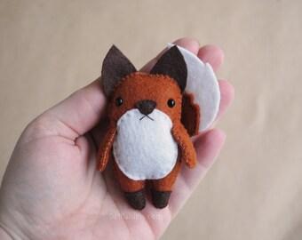 Woodland Fox Felt Ornament Pattern * Printable Sewing Pattern Felt Fox Christmas Tree Ornament * DIY Make Your Own Ornaments