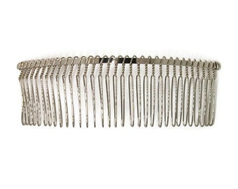 6 Metal Hair Combs 32 Teeth - 5 inch (130mm)