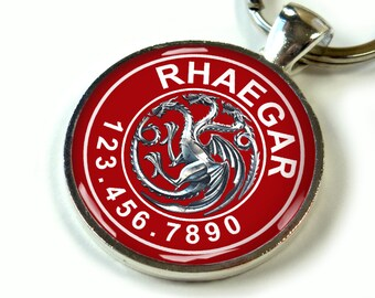 Game of Thrones Rhaegar Targaryen Custom pet id tag dog tags