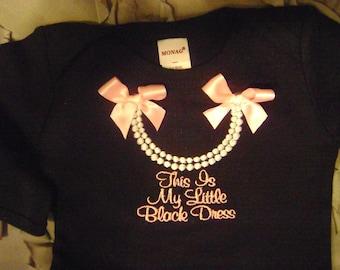My Little Black Dress Infant Gown