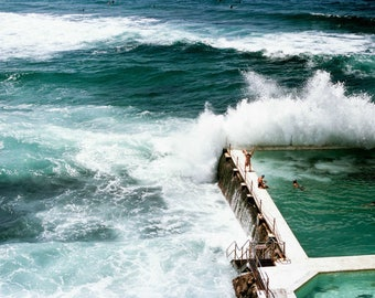 Bondi beach, Sydney, Australia, Iceberg Swimming Pool. 35mm film photography print, wall art