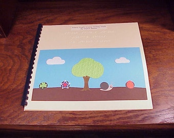 Handmade Children's Braille Tactile Book Snazzy Snail's Snazzy Holiday Shells, by Sharon Bolton