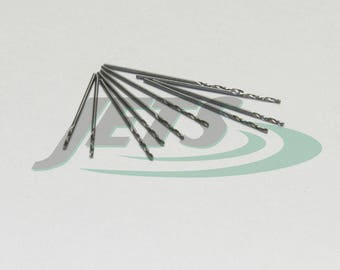 Metric Hss Twist Drills 0.8mm Diameter Jobber Drill Bits Bright A Pack10 Pieces (1E)