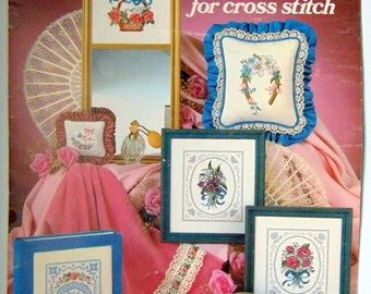 """Counted Cross Stitch """"Bouquets & Lace"""" Floral 1982"""