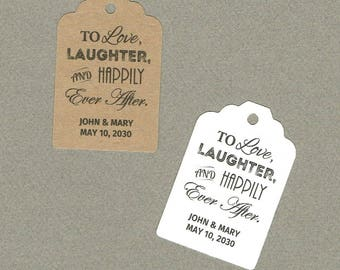 Wedding Tags, Set of 50, To Love Tags, Printed Tags, Wedding Shower Tags, Tags, Wedding Favor, Thank You Tag