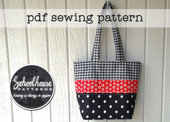 Patchwork Tote Bag handbag purse diaper bag sewing tutorial