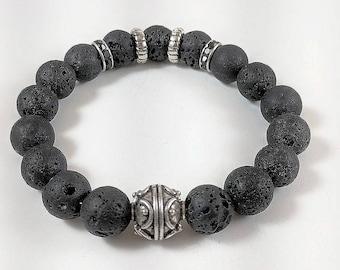 "Premio Handmade ""Lava"" Mens Bracelet"