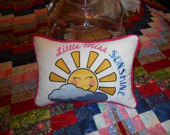 "Novelty ""Pocket Pillow"" Little Miss Sunshine"