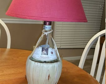 Wine Bottle Lamp, bar, man cave, liquor, mancave