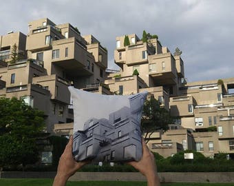 Pillow Cover Habitat67 - landmark of montreal