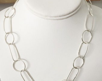 Sterling link chain necklace