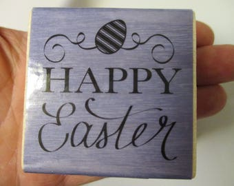 Happy Easter Rubber Stamp-Easter Stamps