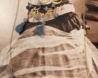 Set: Peru blue Opal Necklace