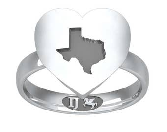 Texas in my Heart Ring