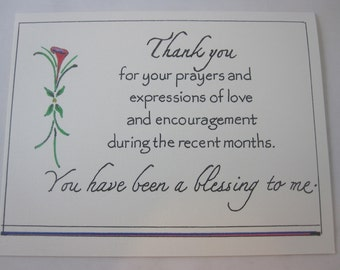 Thank You for Your Prayers - a set of 5 cards