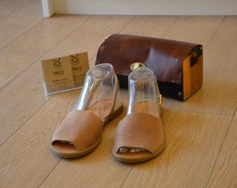 "Greek Leather Sandals ""ambrosia"" code #167"