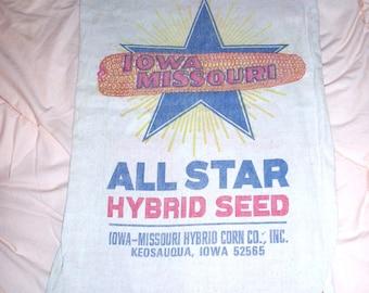 Seed Sack, Iowa Missouri, Keosauqua, Mint