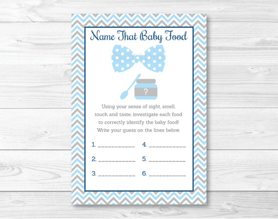 Baby Food Jar Baby Shower Game