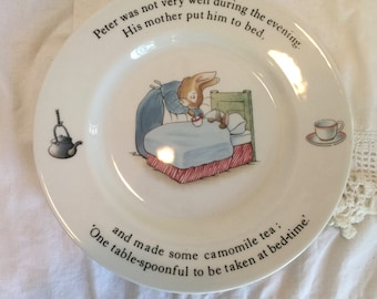 """Wedgewood Peter Rabbit Porcelain Child's Plate, 7"""""""