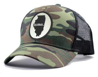 Homeland Tees Illinois Home Army Camo Trucker Hat
