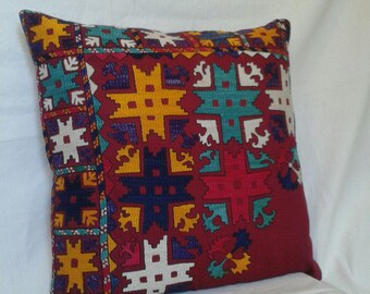 52x52cm Corgeous Uzbek Traditional Suzani Pillow Cases,Suzani cushion,Enbroidered pillow,Decorative pillow