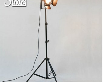 Industrial Bar Creative Studio Retro Tripod Black Floor Lamp Lights Room Light Stand Ceiling lighting OY16F01 Man Cave