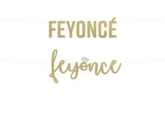 Feyonce Custom Glitter Banner- Block or Cursive Letters!
