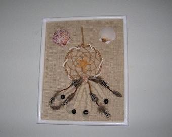 On Sale Seashell Dreamcatcher And Wall Art, Beach Lover Wedding Gift