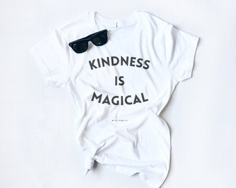 Kindness is Magical, Ladies Slim Tee, Mothers Day Gift, Graphic Tee, Magical, Vintage Feel, Kindness Tee, Be Kind, Be Nice, Kindness Rules