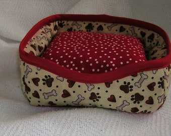 """Snuggly Pet Bed for 18"""" doll pet"""