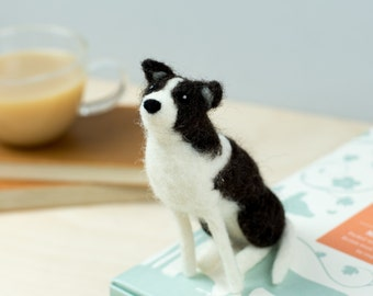 Border Collie Dog Craft Kit - Needle Felting Craft Kit - Make Own Sheep Dog - British Yarn & Design - Gift